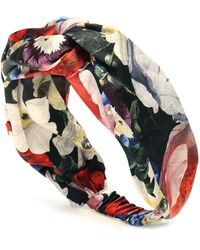 Erdem Floral Silk-satin Headband - Multicolor