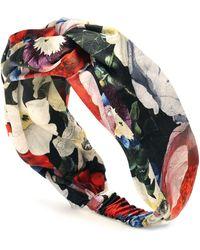Erdem Floral Silk-satin Headband - Multicolour