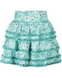 Poupette Exclusivité Mytheresa – Mini-jupe Bibi à fleurs - Vert