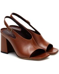 Dries Van Noten Leather Sandals - Brown