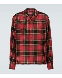 Undercover Camisa de manga larga de cuadros - Rojo
