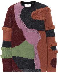 Peter Pilotto Patchwork Cotton-blend Jumper - Multicolour