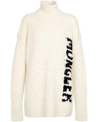 Moncler Jersey en mezcla de lana - Blanco