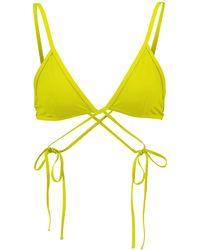 Christopher Esber Wrapround Triangle Bikini Top - Green