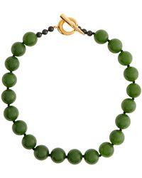 Sophie Buhai Collar de vermeil dorado de 18 ct con jade - Verde