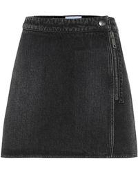 Givenchy Denim Miniskirt - Black