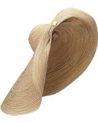 Lola Hats Giga Spinner Raffia Hat - Multicolor