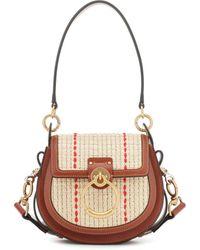 Chloé Tess Small Raffia Shoulder Bag - Natural