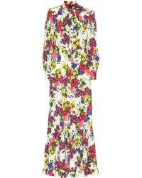 c8b02f8f Dolce & Gabbana Embroidered Strapless Dress in Metallic - Lyst