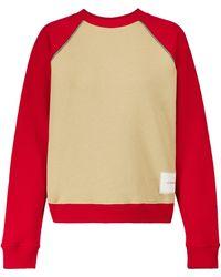 Victoria Beckham Sweat-shirt en coton biologique bicolore - Multicolore
