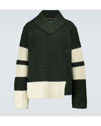 Sacai Pullover aus einem Wollgemisch - Grün