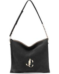 Jimmy Choo - Varenne Suede Shoulder Bag - Lyst