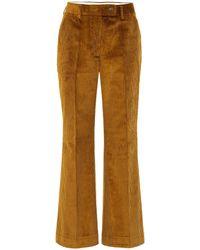 Acne Studios Pantalon en velours de coton côtelé - Multicolore