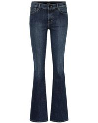 J Brand Jeans flared Sallie a vita alta - Blu