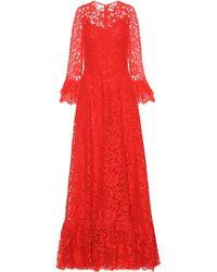 Valentino Robe aus Spitze - Rot