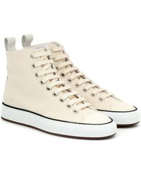 Common Projects Tournament High Canvas Sneakers - Natural