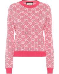 Gucci Jersey GG de lana y algodón - Multicolor
