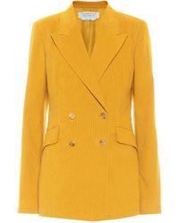Gabriela Hearst Angela Double-breasted Cotton Blazer - Yellow