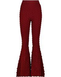 Stella McCartney Pantalones flared - Rojo