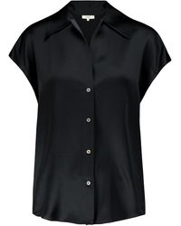 Vince - Camisa de seda sin mangas - Lyst