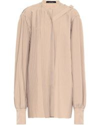 ROKH Pleated Twill Top - Natural
