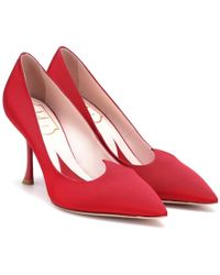 Roger Vivier Pumps I Love Vivier in satin - Rosso