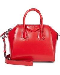 Givenchy Tote Antigona Mini aus Leder - Rot