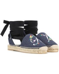 Roger Vivier - Espadrilles Lace Up Blooming RV - Lyst
