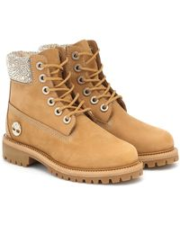 Jimmy Choo X Timberland Premium 6 Ankle Boots - Natural