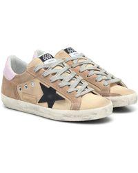 Golden Goose Deluxe Brand Sneakers Superstar aus Canvas - Natur