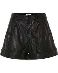Étoile Isabel Marant Abot High-rise Leather Shorts - Black