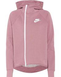 Nike Veste Tech Fleece à capuche en coton mélangé - Violet