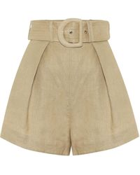 Zimmermann Exclusive To Mytheresa – Linen Shorts - Natural