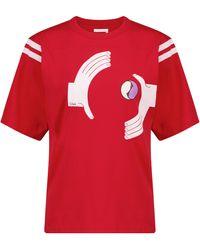 Chloé Camiseta de punto fino estampada - Rojo
