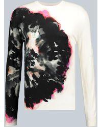 Alexander McQueen Sweatshirt Ink Floral aus Baumwolle - Weiß