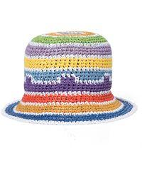 Missoni - Cappello da pescatore a righe in crochet - Lyst
