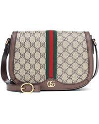 Gucci Ophidia Small GG Supreme Canvas & Leather Shoulder Bag - Multicolor