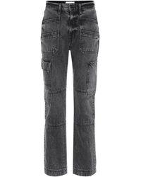 SLVRLAKE Denim Jeans cargo Savior a vita alta - Grigio