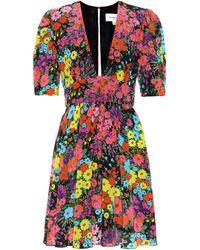 Les Rêveries Floral Silk Dress - Multicolour