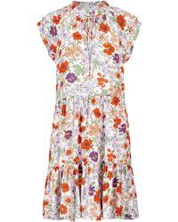 Veronica Beard - Zee Floral Minidress - Lyst