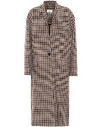 Étoile Isabel Marant Henol Houndstooth Wool Coat - Natural