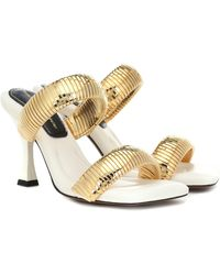 Proenza Schouler Metal And Leather Sandals - Multicolor