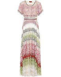 Missoni Robe longue - Rose