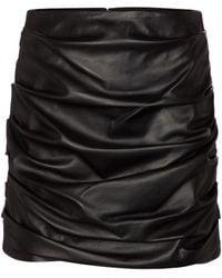 Dolce & Gabbana Leather Miniskirt - Black