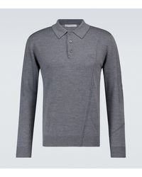 A_COLD_WALL* Knitted Merino Wool Polo Jumper - Grey