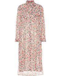 Étoile Isabel Marant Vestido camisero Eliane de algodón - Rosa