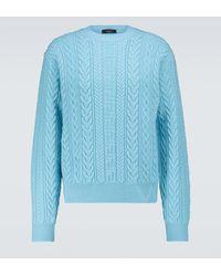 Versace Pull en maille torsadée - Bleu