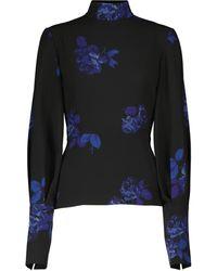 Emilia Wickstead Eilish Floral Crêpe Georgette Top - Blue