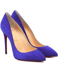 Christian Louboutin Pigalle Follies 100 Suede Pumps - Purple