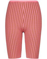 Tropic of C Rumba Houndstooth Biker Shorts - Pink